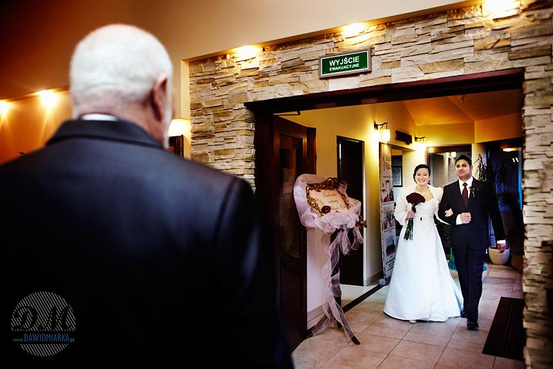 Wejście Młodej Pary na salę weselną