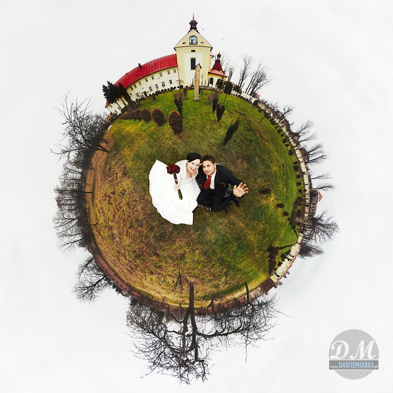 Fotografia ślubna Katowice - zdjęcie w stylu planeta
